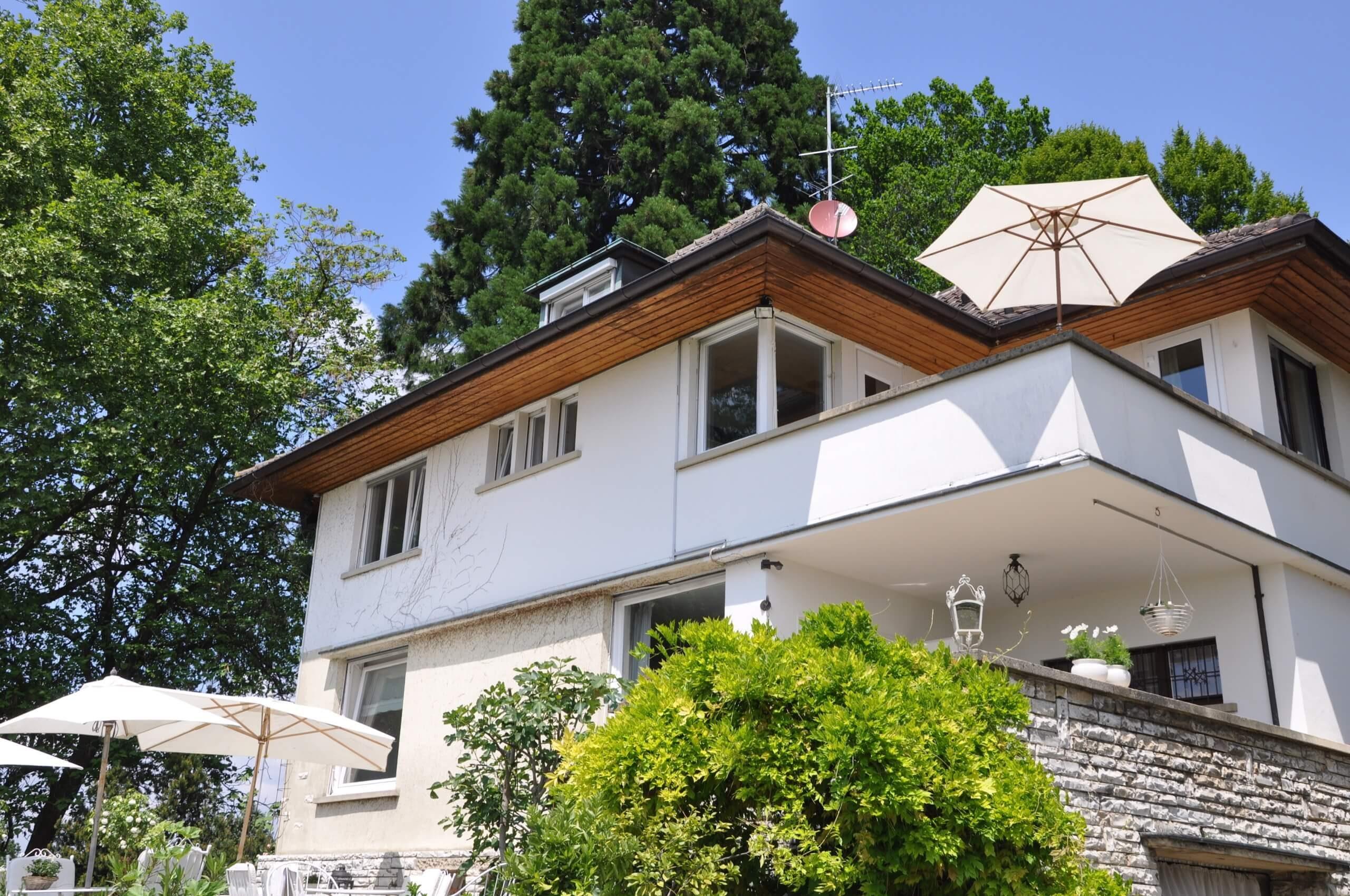 die Villa Villa Sicht vom Garten