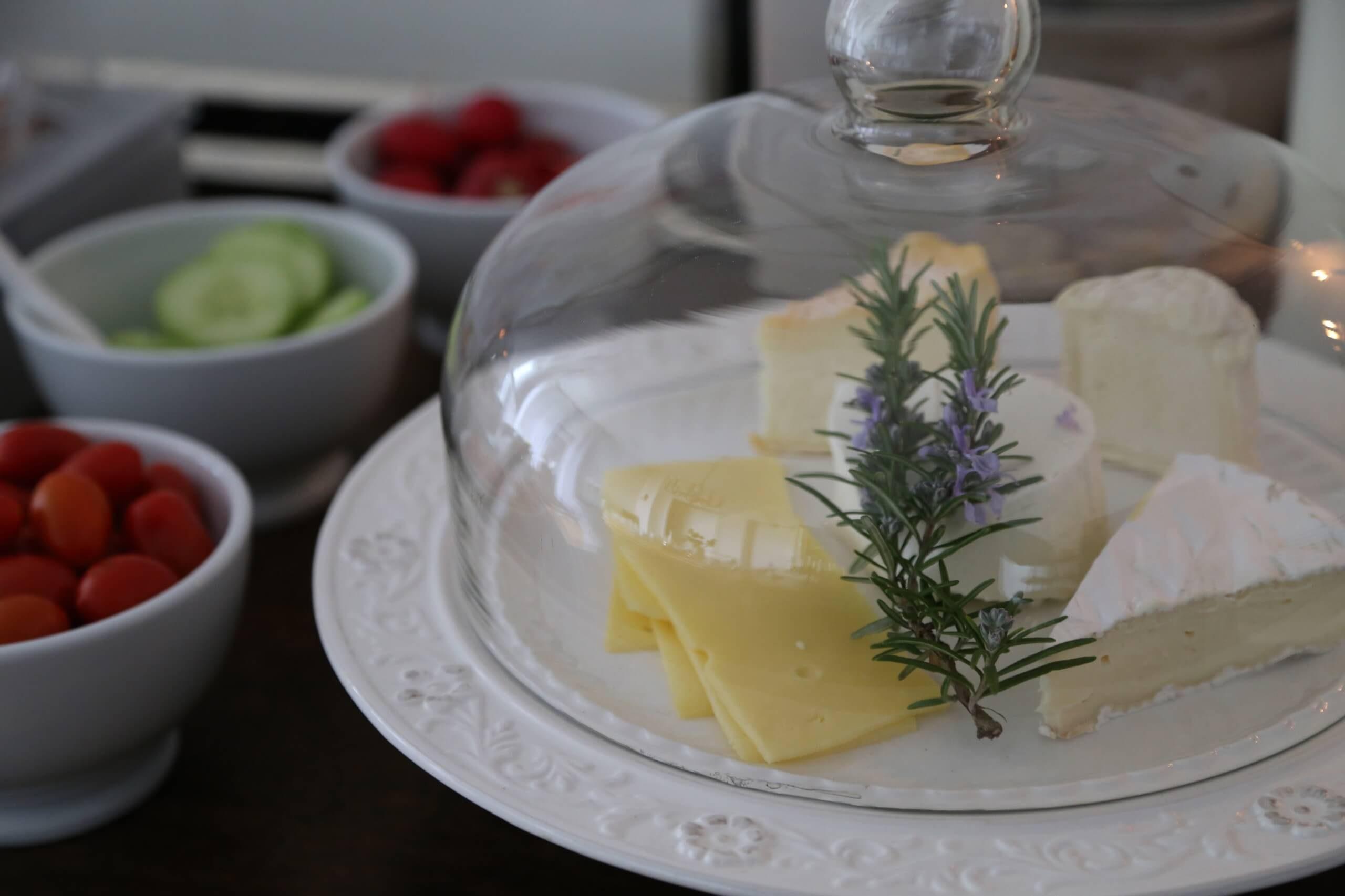 die Villa Frühstück Käse